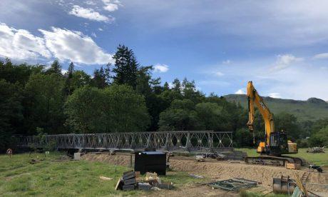 Bridge replacement, Beinglas farm campsite