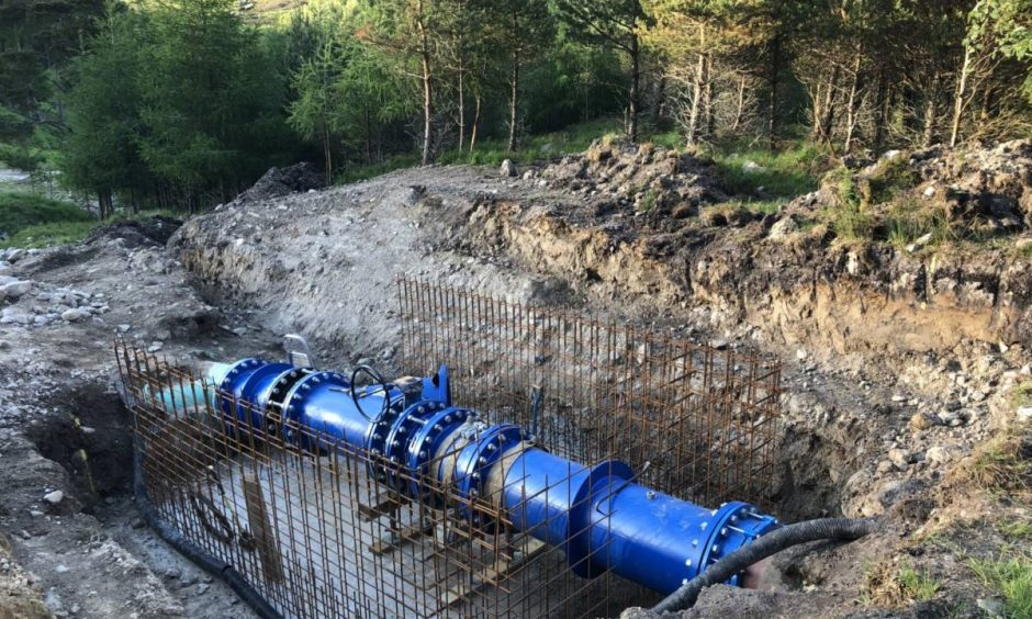 Hydro upgrade at Innerwick estate, Glenlyon